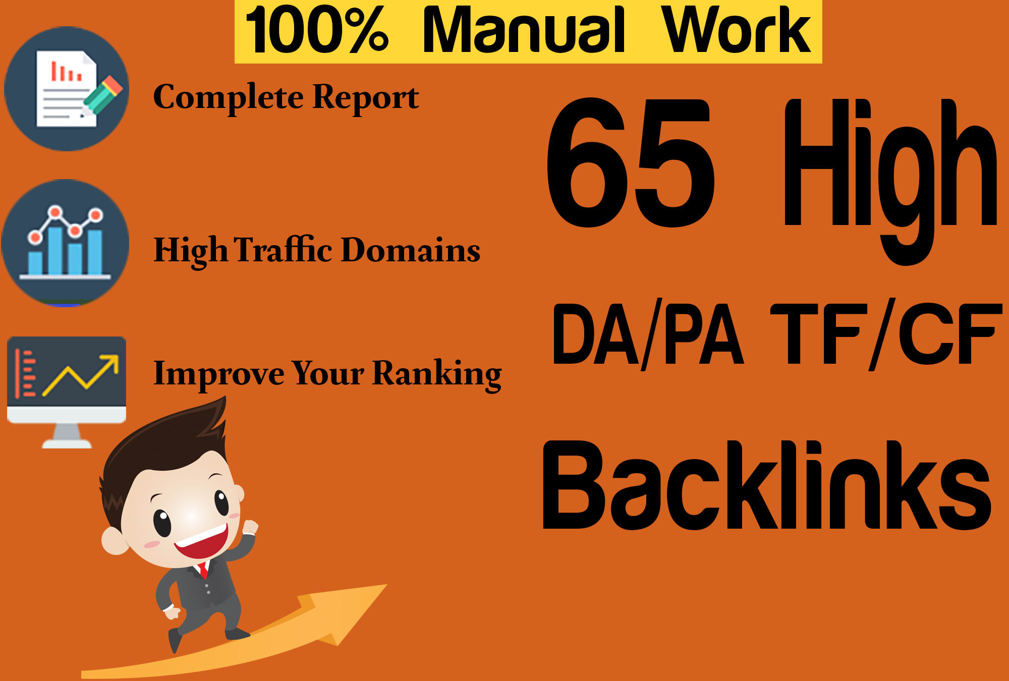 I will perform SEO service with 65 high da pa backlinks