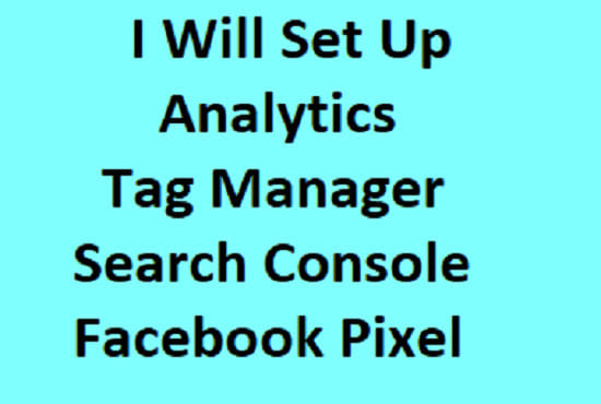 I will setup google analytics and tag manager 24 hour