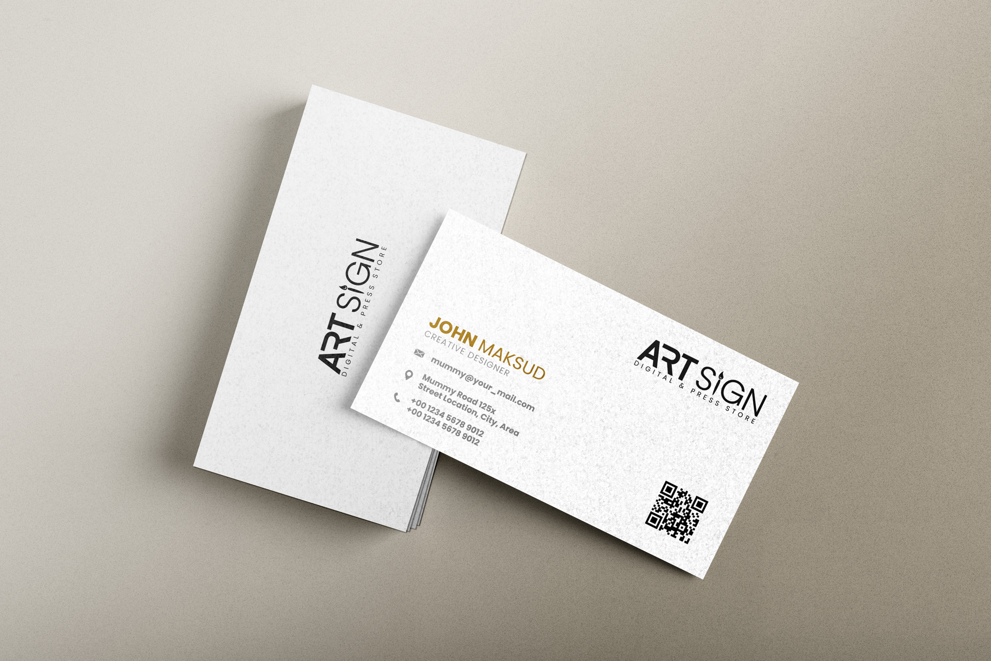 I will design minimalist business card for your business in 6 hours