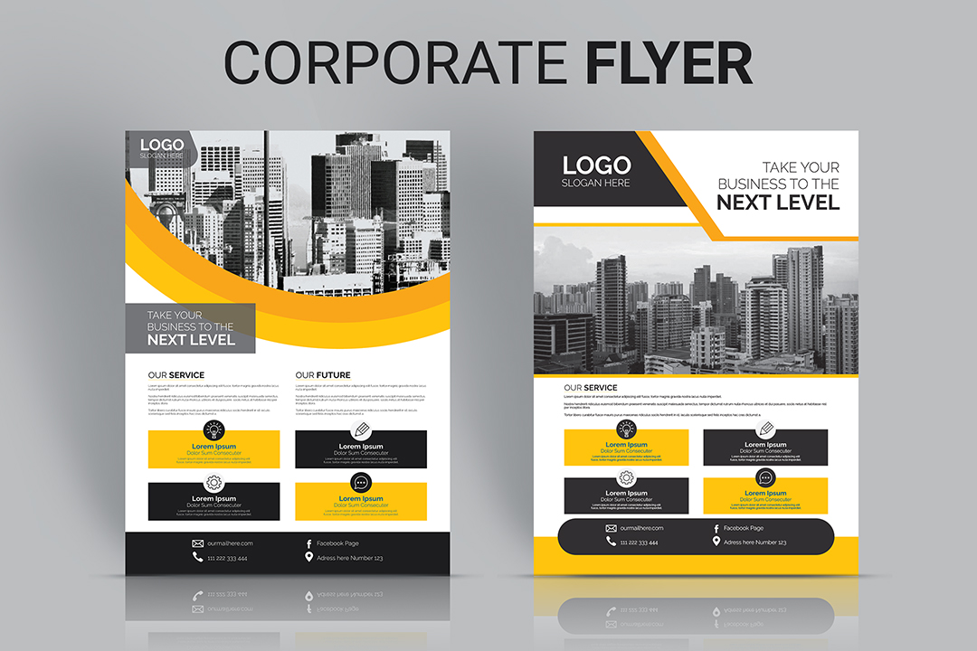 I will create a modern,  attractive corporate business Flyer and Letterhead design