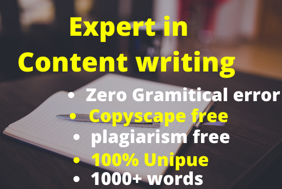 I will write 2000+words SEO friendly Blog post and website content writing