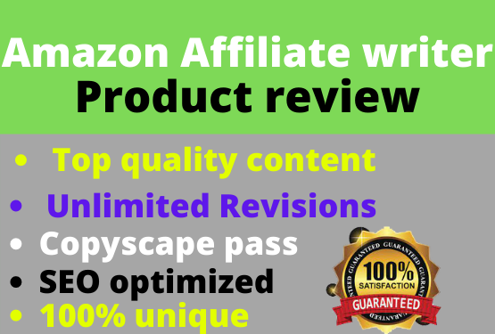 i will write 1500+ words SEO friendly and google friendly amazon affiliate articles