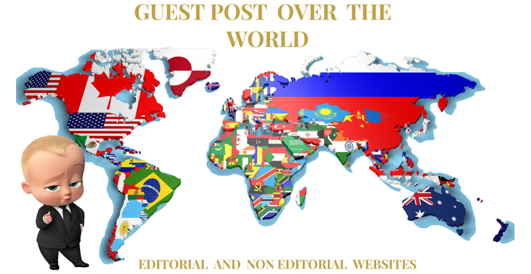 Do guest post over the world on editorial and non editorial sites