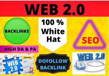 80 WEB 2.0 High Authority Permanent Contextual Backlinks White Hat SEO Link Building High DA & PA