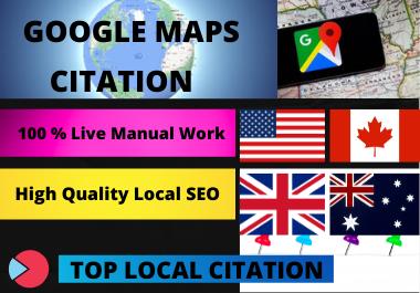 Manual Create 500 Google Maps Citation for Local SEO for Google Rank