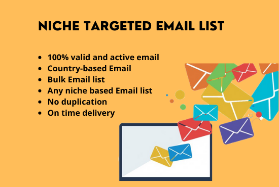 I will provide verified 5k niche targeted email list