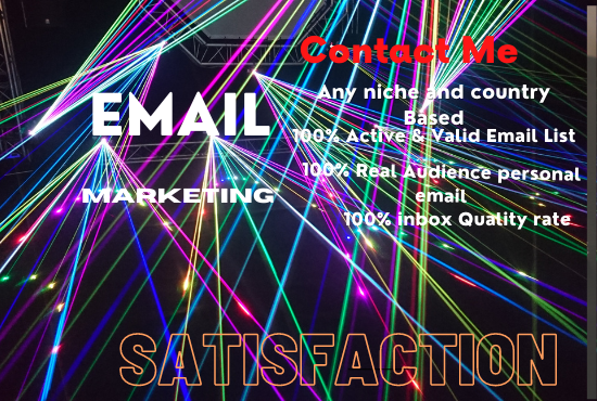 I will collect an active and niche targeted email list worldwide