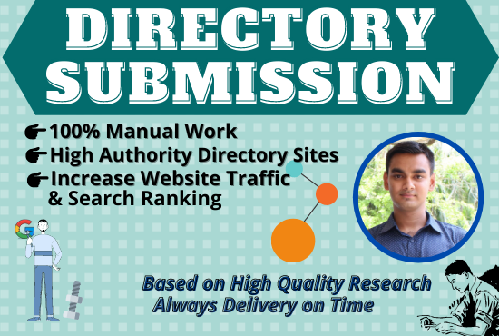 I will do up to 100 directory submission manually.