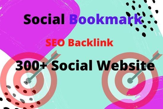 Create manually 100 social bookmarking,  social backlinks