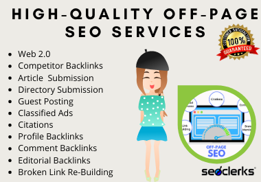 I will rank your website with monthly white hat off page SEO service