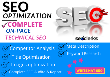 I will do complete on-page SEO for your website ranking