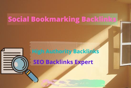 I will provide 60 dofollow social bookmarking on high da backlinks service for SEO ranking