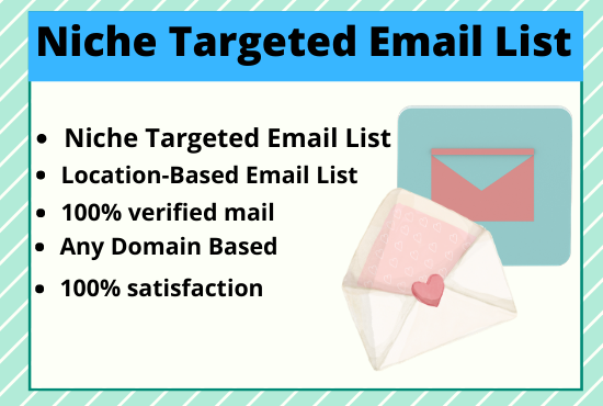 I will collect active and niche targeted email.