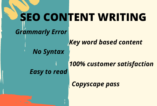 I will write SEO friendly 1200 words creative website content