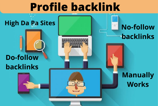 I will create 70 Do-follow profile backlinks on high da pa sites