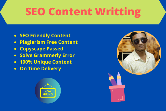 I will be your content writer for your website content