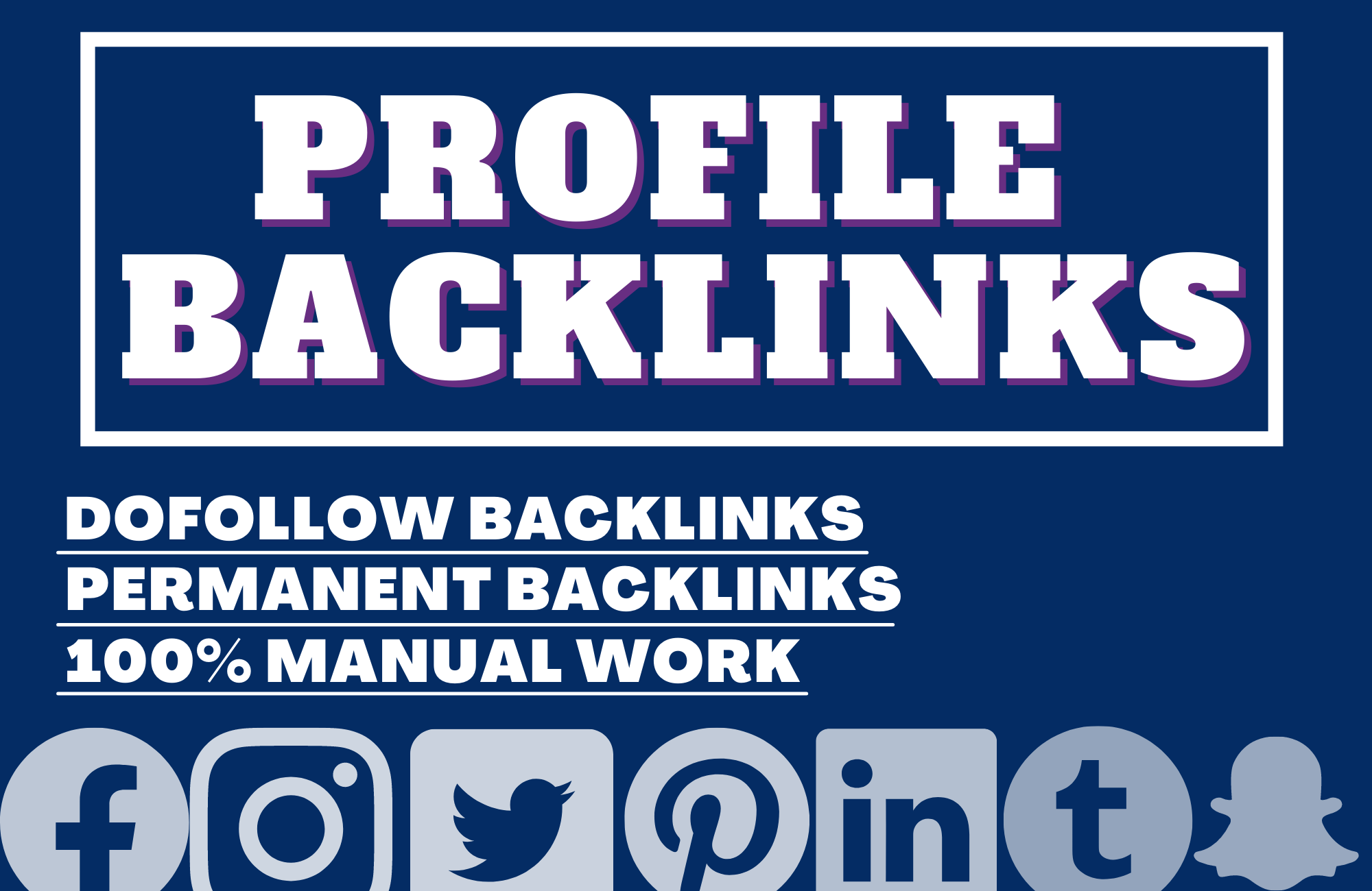 I will create 100 best quality profile bookmarking SEO backlinks on social sites.