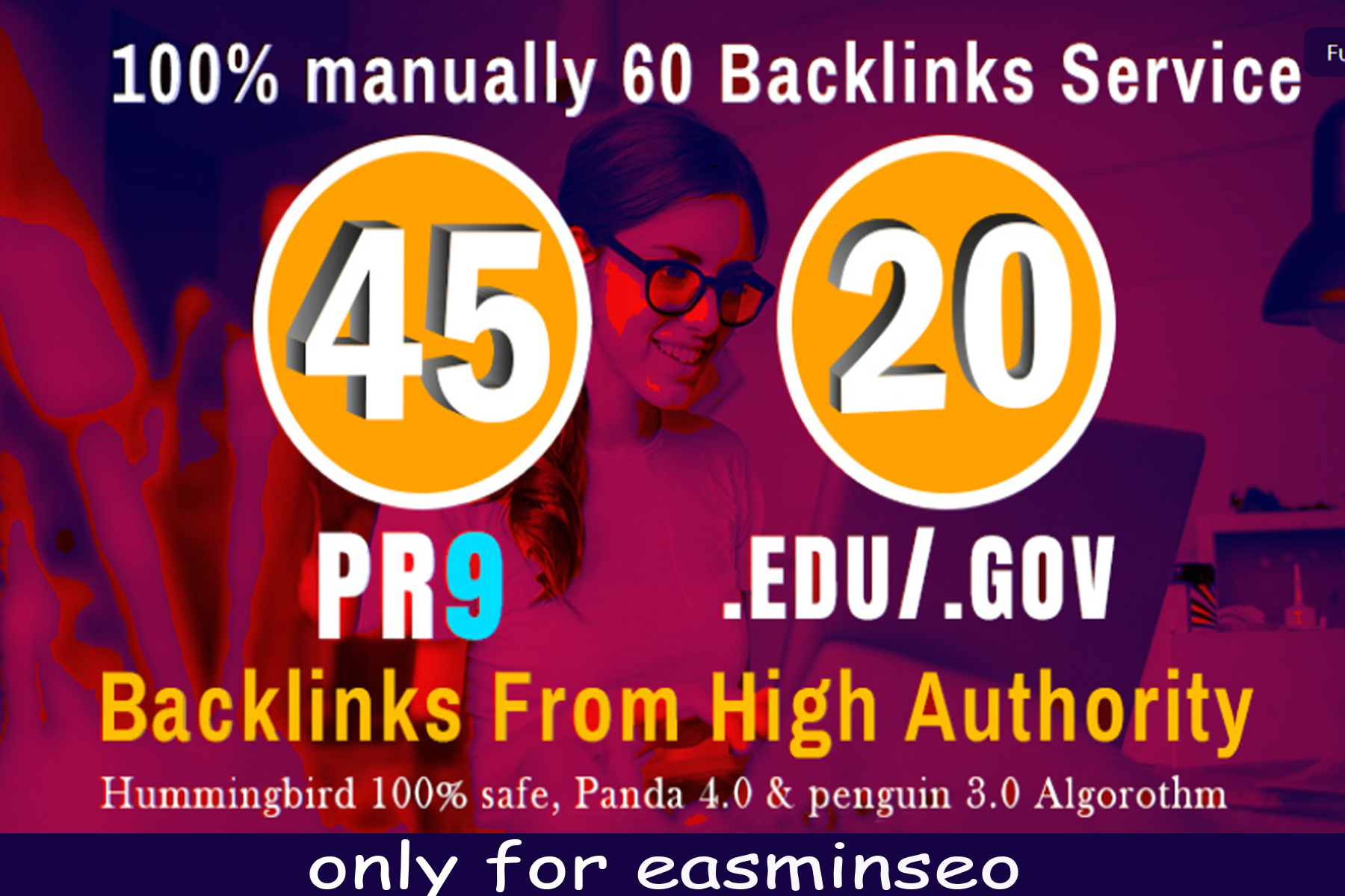 I will manually do 45 PR9 + 20 EDU/GOV Safe SEO High Pr Backlinks 2021 Best Results