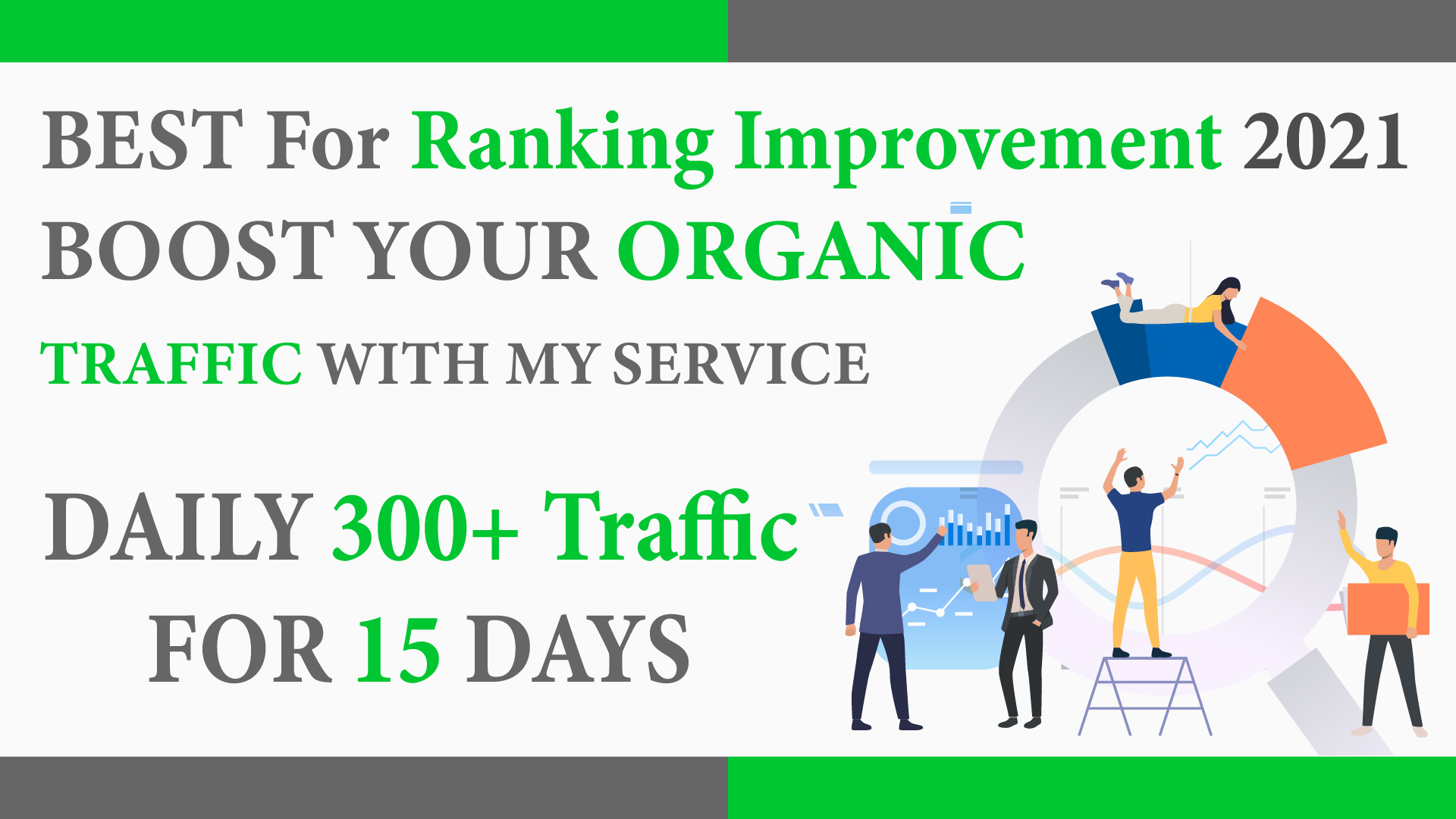 Daily 300+ Organic traffic for 15 Days - Best for ranking Improvement