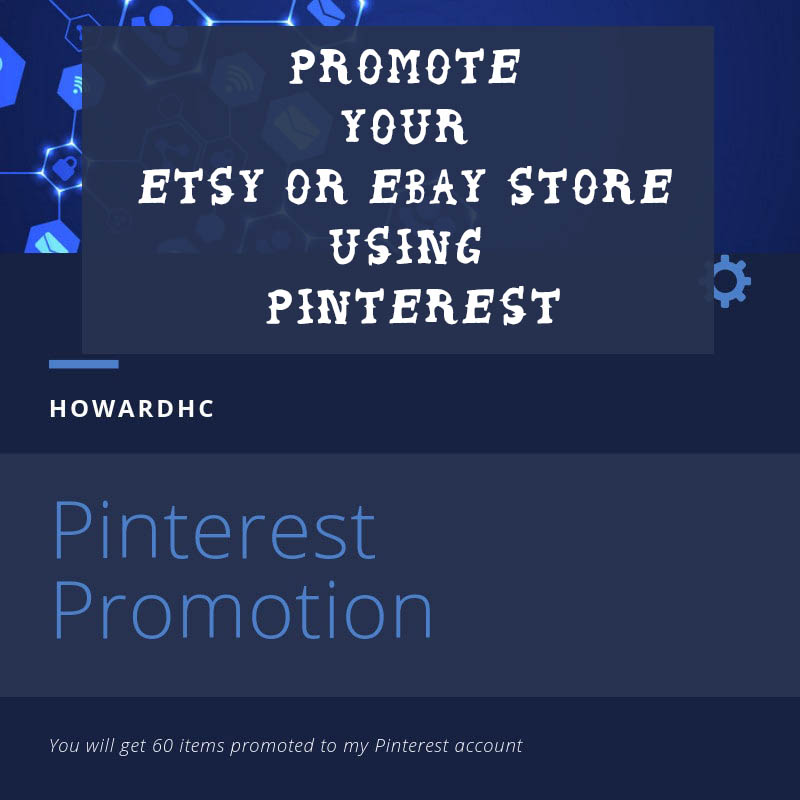 Promote your Etsy or Ebay store using Pinterest