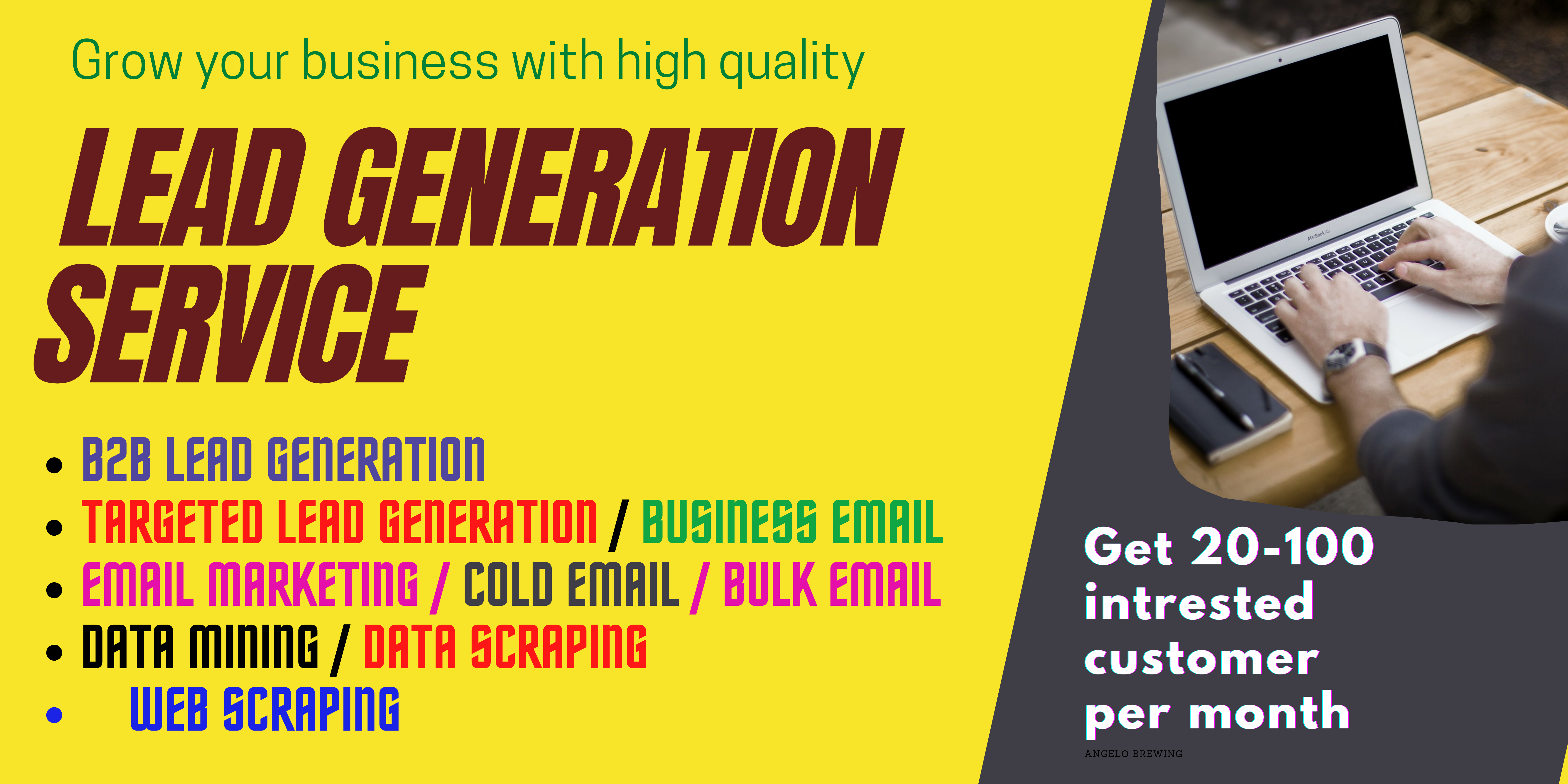 I will do b2b lead generation for cold calling and cold emailing