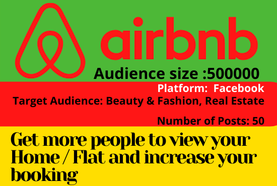 You will get actively promote your airbnb home listing