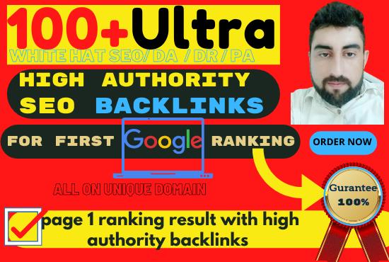 100 DA SEO backlinks white hat manual link building for google top ranking