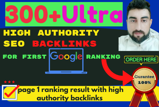 300 SEO backlinks white hat manual link building for google top ranking