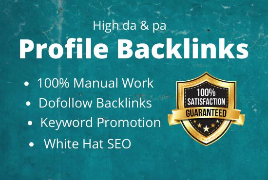 I Will Create Manually 100 High da pa Dofollow SEO Profile backlinks