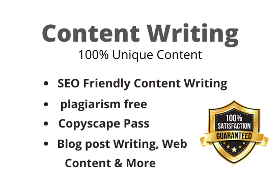I will write 1000+ SEO friendly web site content & blog post on any topic