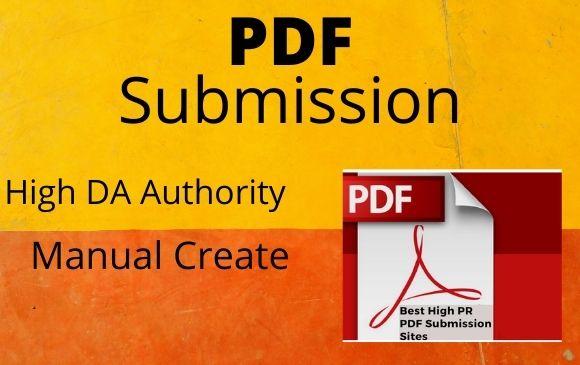 I will create 30 PDF submission manually High DA linkbuilding