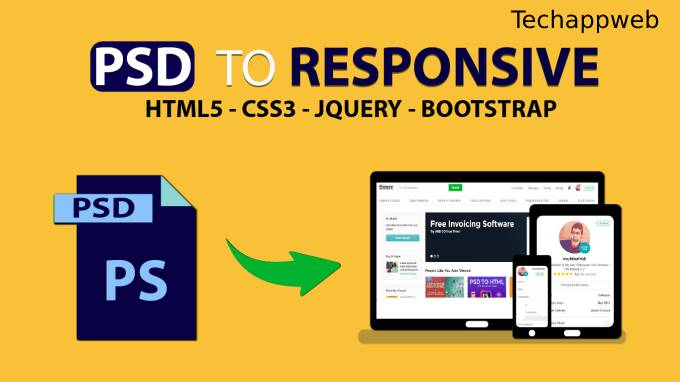 I will convert xd to html, jpg to html, psd to html responsive bootstrap 3,4