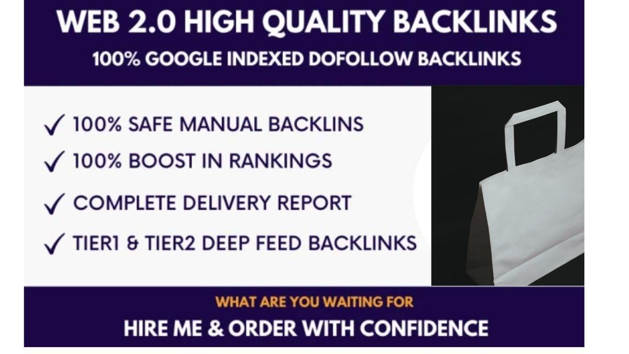 built 100 high quality web 2 0 backlinks
