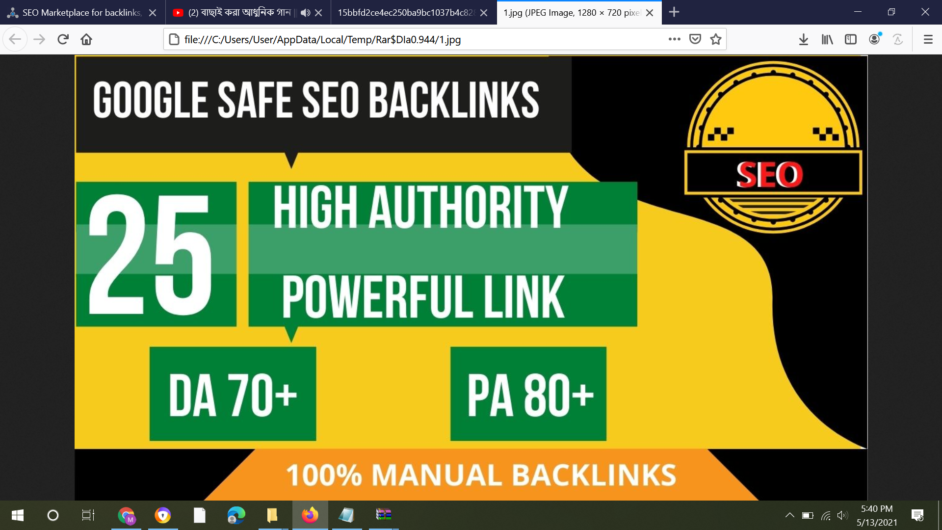 Manually Do UNIQUE SEO BackIinks On DA 70+ Sites To RANK Your Website