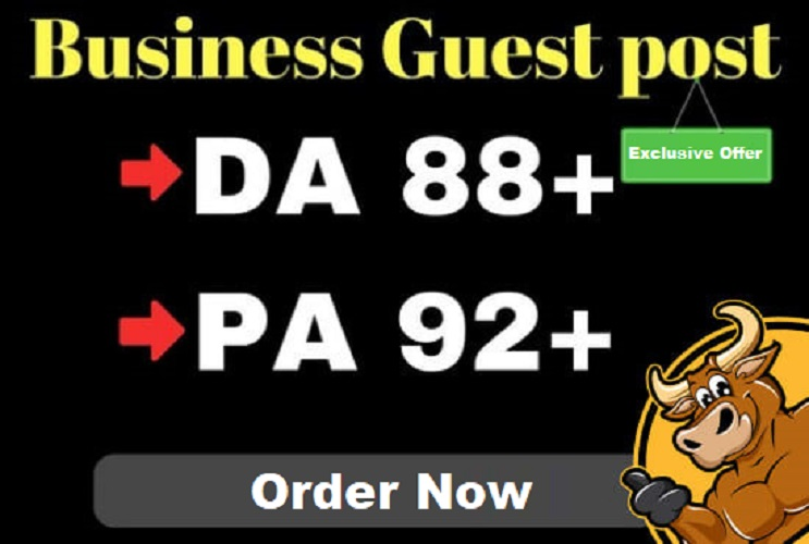 I will guest post in high quality da 89 business blog
