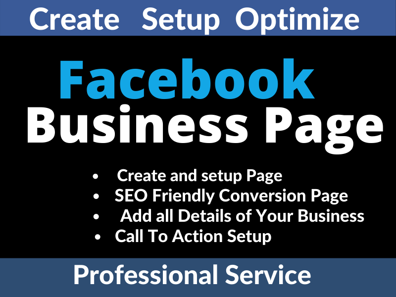I will create and design facebook business page that wll grow your business