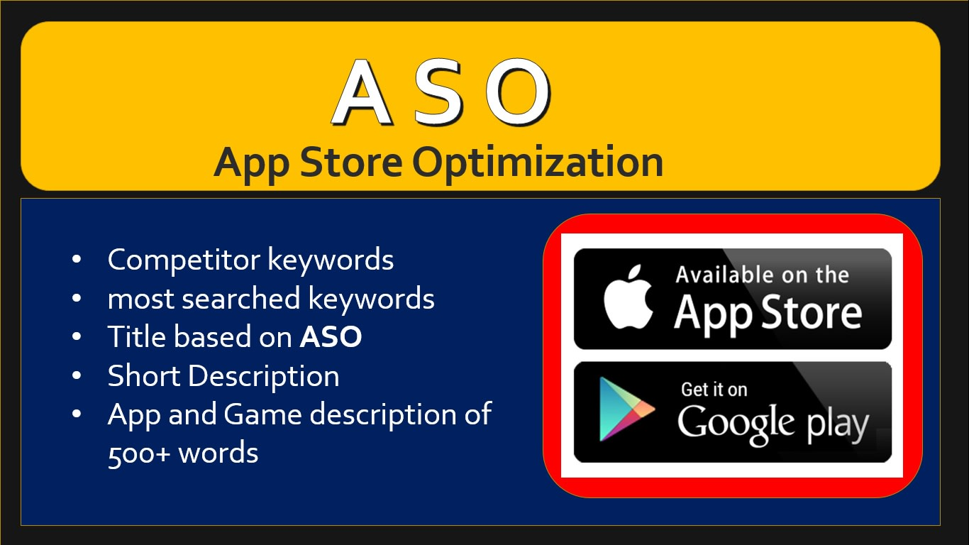 I will write app and game description based on aso app store optimization