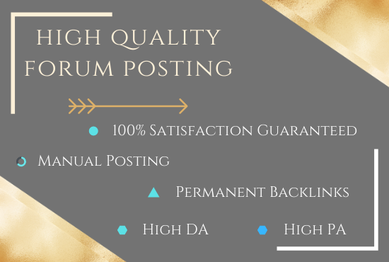 I offer 50+ HQ forum posting for your website with SEO backlinks