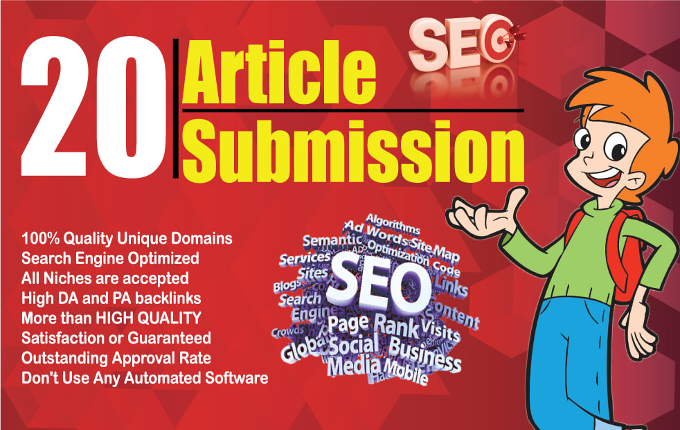 I will submit manually 20 article submission backlinks