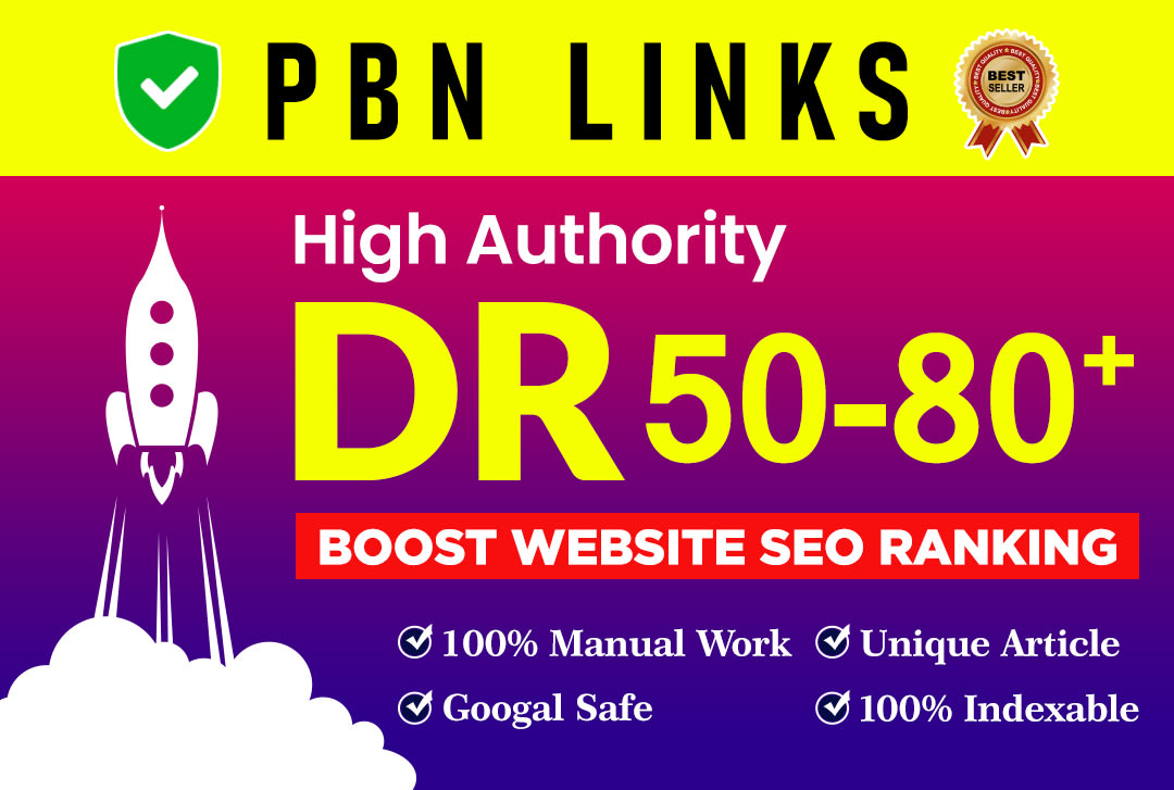 I will make strong DR 50 to 80 dofollow whitehat manual SEO backlinks