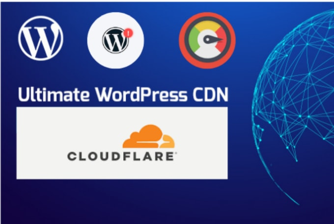 I will install cloudflare CDN setup with free ssl certificate
