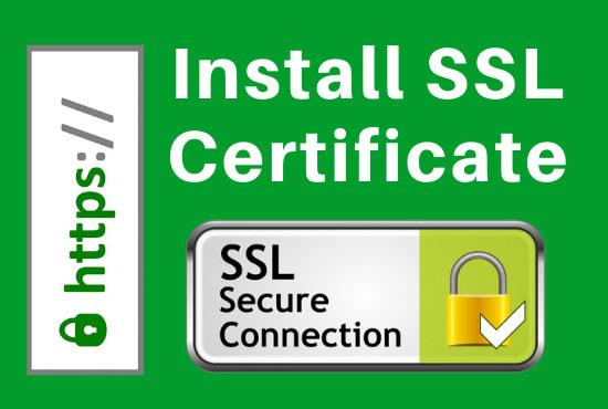 I will install SSL certificate https on your wordpress website