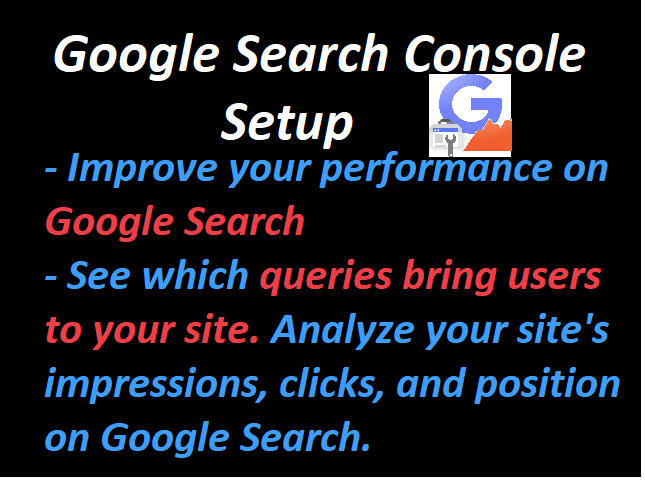 I will setup webmaster tools,  search console and sitemap