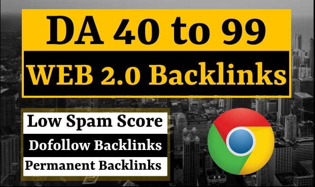 I Will Creat 50 Web 2.0 Dofollow Backlinks Permanent