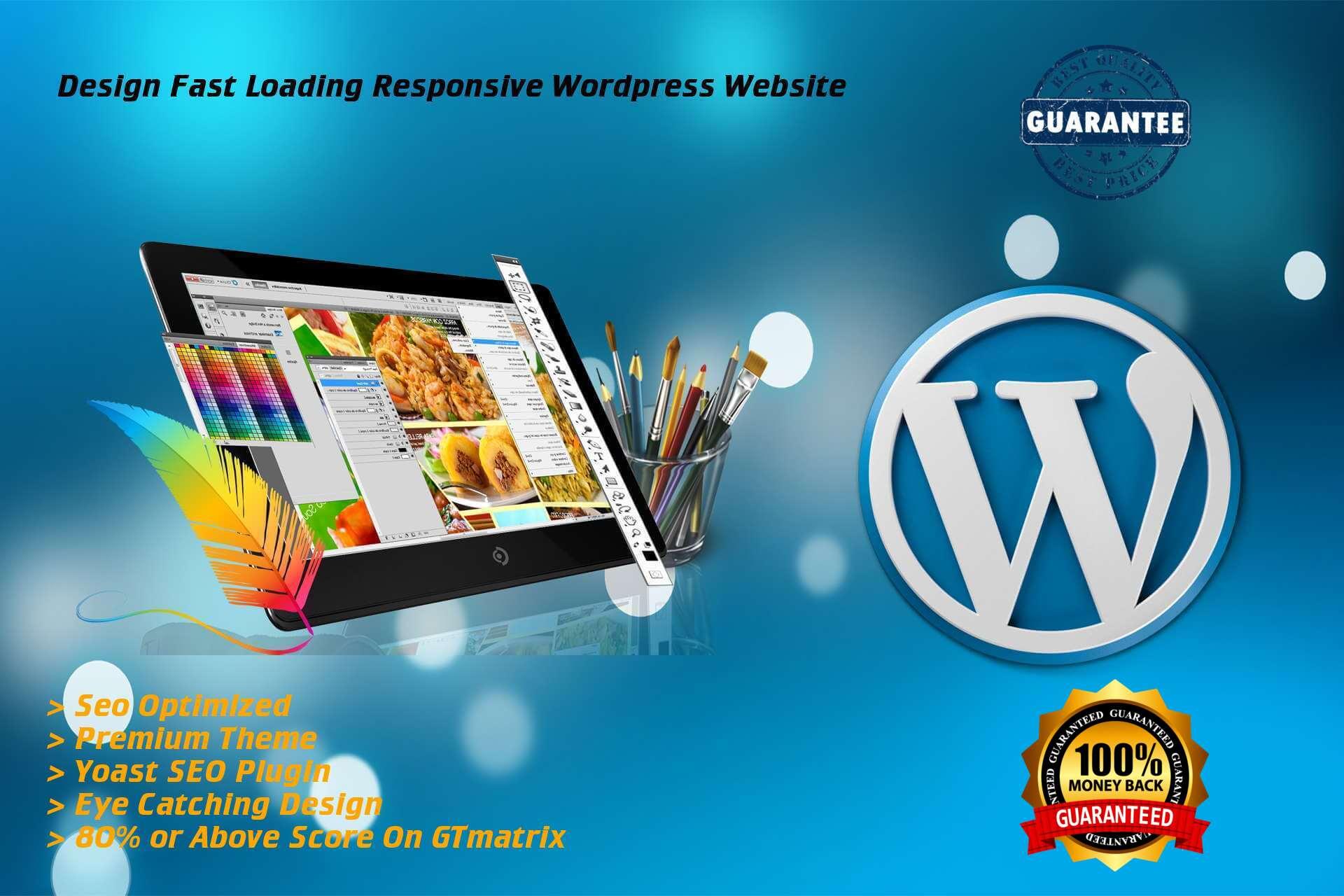 I will design fast loading responsive wordpress website