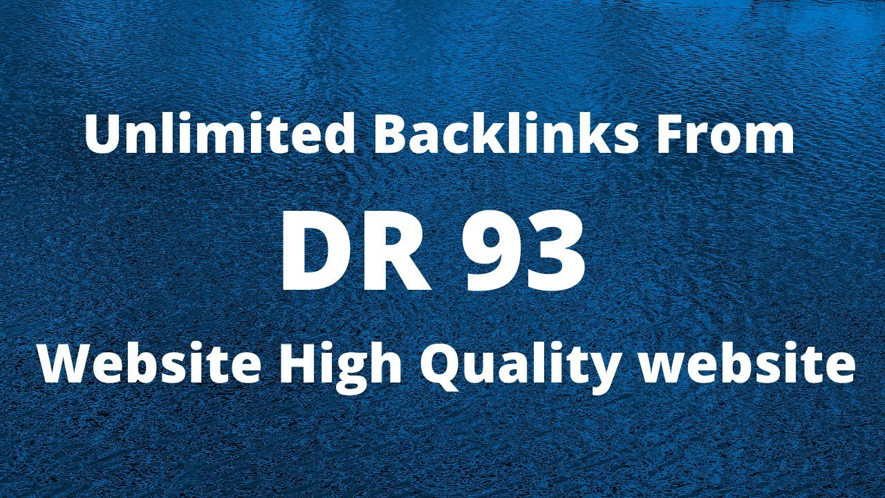 I will build DR 90 to 99 high quality dofollow backlinks for authority site