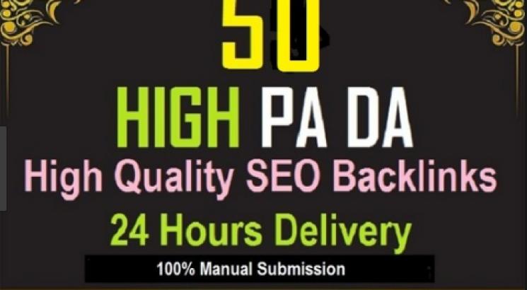 I will create high da SEO backlinks for google top authority site