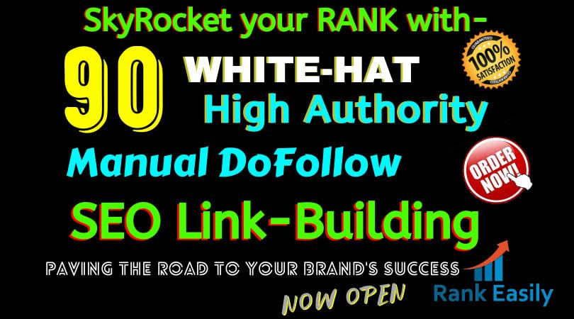 build 90 high authority USA dofollow seo backlinks service,  link building