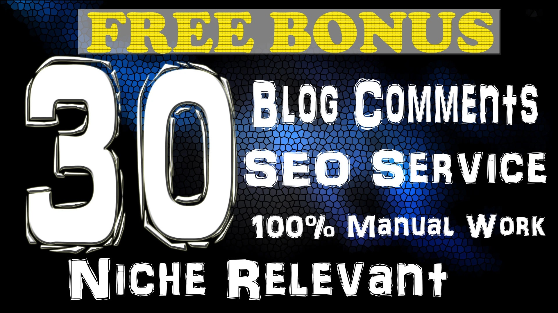 I will create 30 niche relevant manual blog comment backlinks for google rank