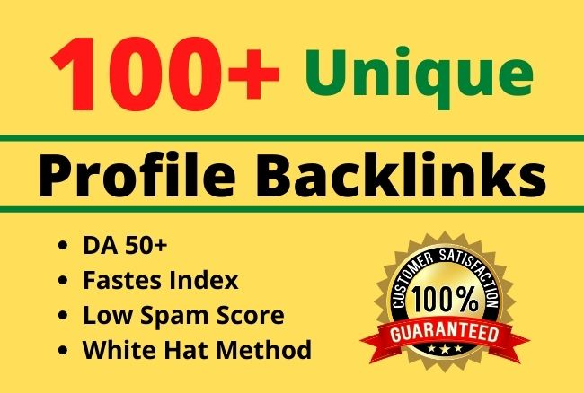 Create 100+ unique profile high pr seo backlinks